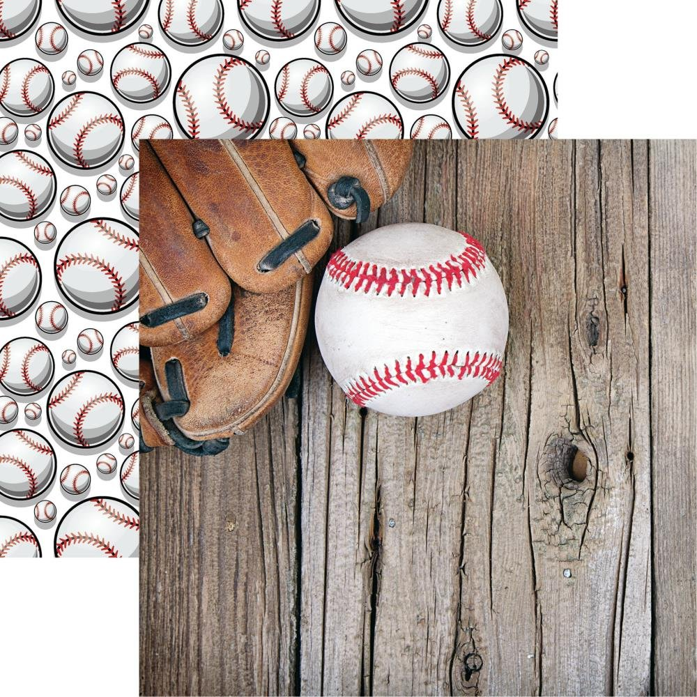 Game Day Baseball Double-Sided Cardstock 12X12