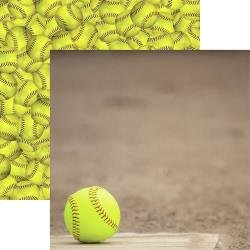 Game Day Softball Double-Sided Cardstock 12X12 Home Plate