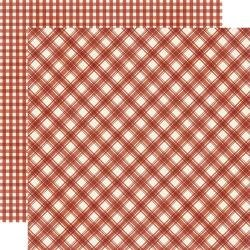Jingle All The Way Double-Sided Cardstock 12X12 Cranberry Plaid/Gingham