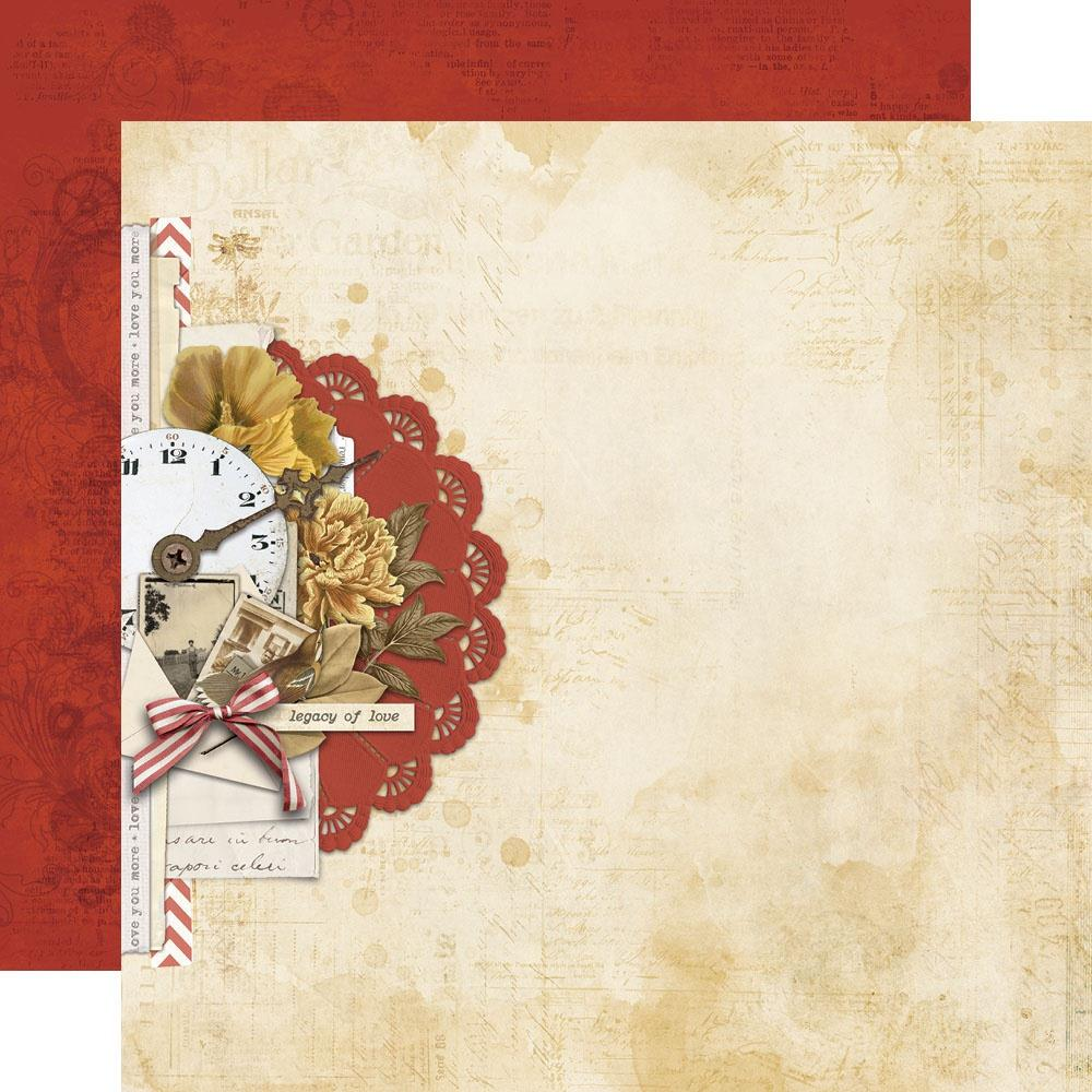 Simple Vintage Ancestry Double-Sided Cardstock 12X12-Yesteryear