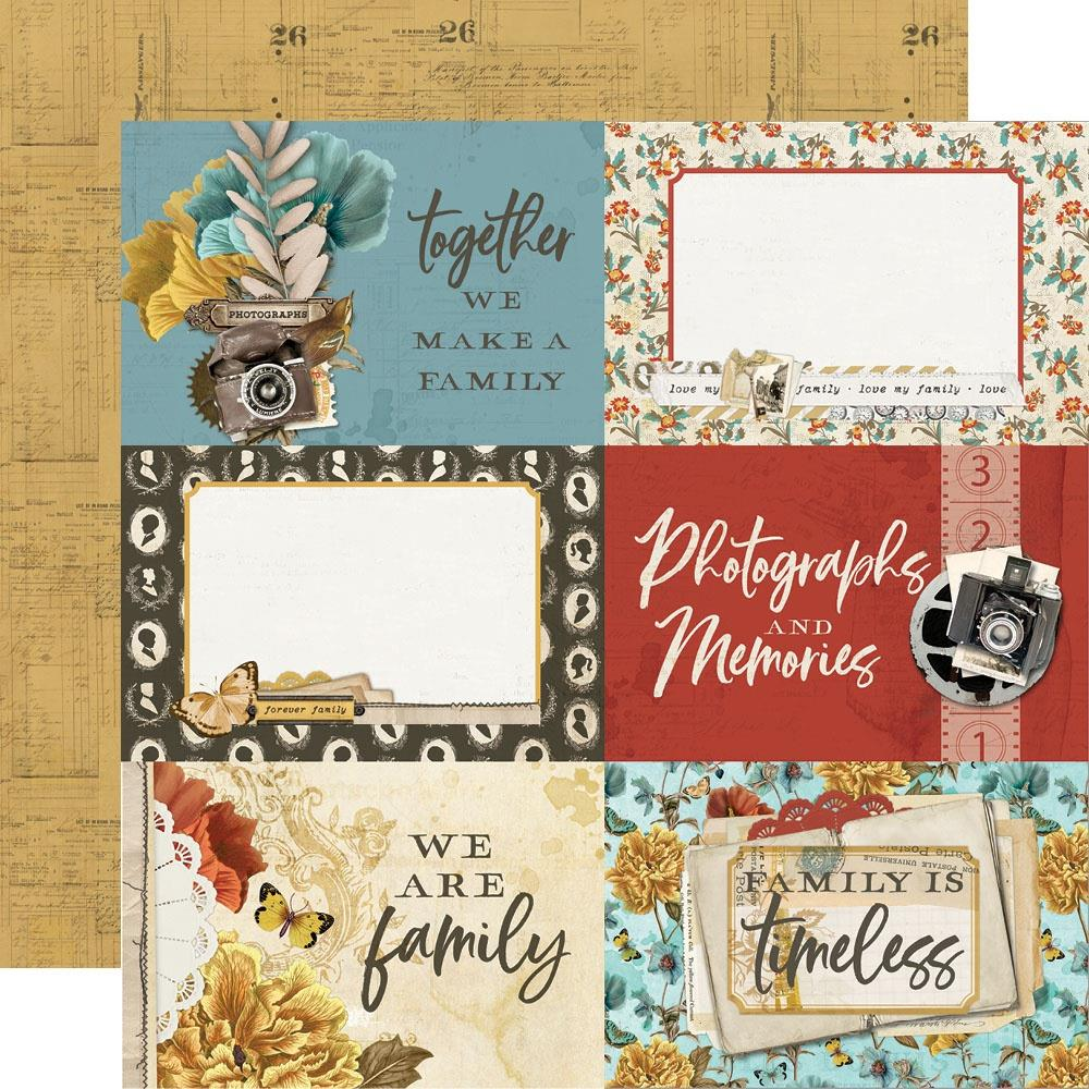 Simple Vintage Ancestry Double-Sided Cardstock 12X12-4X6 Elements