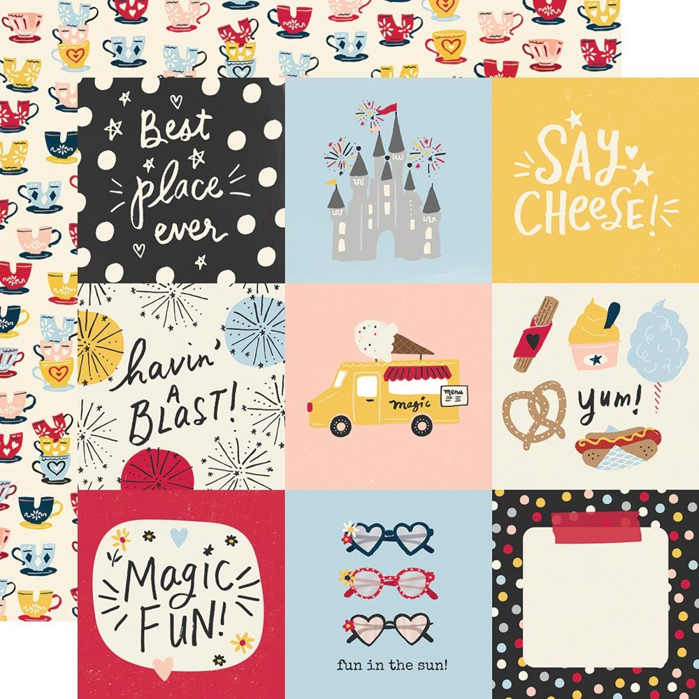 Say Cheese Main Street Double-Sided Cardstock 12X12-4X4 Elements