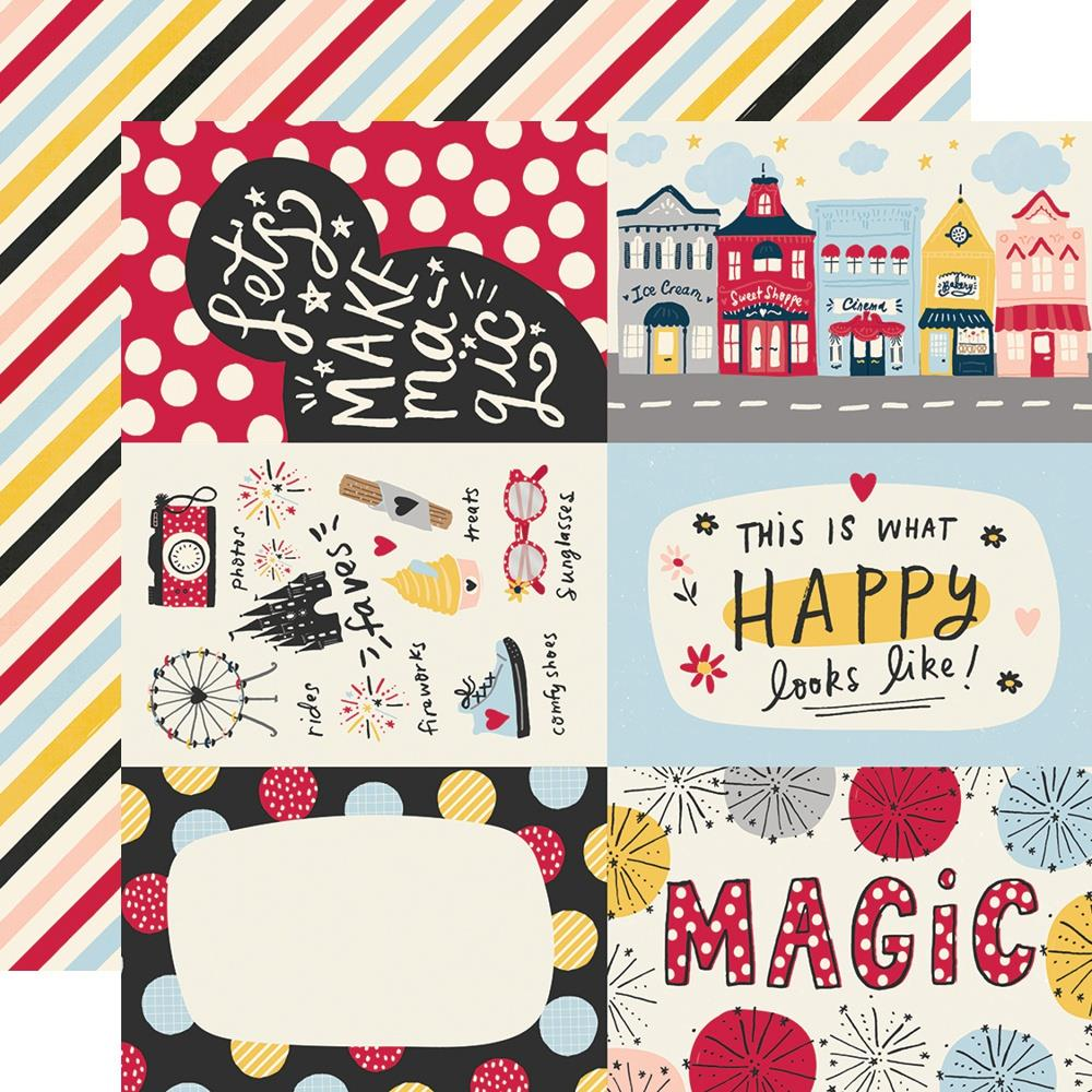 Say Cheese Main Street Double-Sided Cardstock 12X12-4X6 Elements
