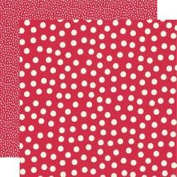 Say Cheese Main Street Double-Sided Cardstock 12X12 Red Dots Simple Basics