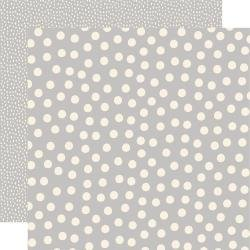 Say Cheese Main Street Double-Sided Cardstock 12X12 Grey Dots Simple Basics
