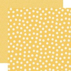Say Cheese Main Street Double-Sided Cardstock 12X12 Yellow Dots Simple Basics