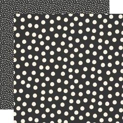 Say Cheese Main Street Double-Sided Cardstock 12X12 Black Dots Simple Basics