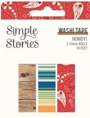 Simple Stories Howdy! Washi Tape 3/Pkg