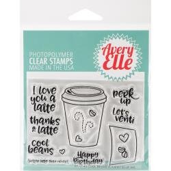Avery Elle Clear Stamp Set 4X3-Cool Beans