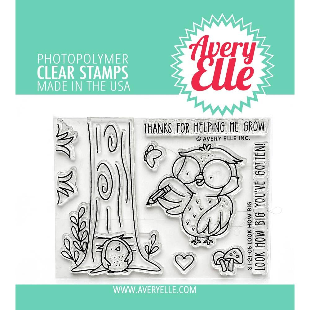 Avery Elle Clear Stamp Set 4X3-Look How Big