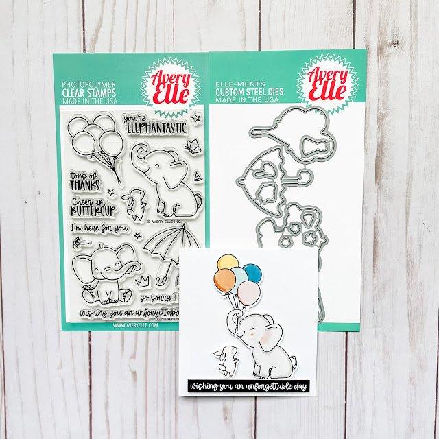 Avery Elle Clear Stamp Set 4X6- Elephantastic