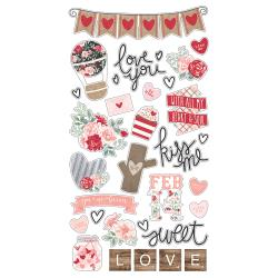 Kissing Booth Chipboard Stickers 6X12