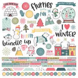Combo Sticker- - Simple Stories Freezin' Season