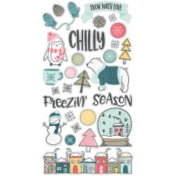 6x12 Chipboard- Simple Stories Freezin' Season