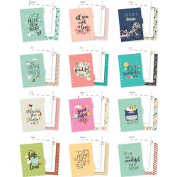 Carpe Diem Seasons Double-Sided A5 Planner Inserts Monthly, Undated