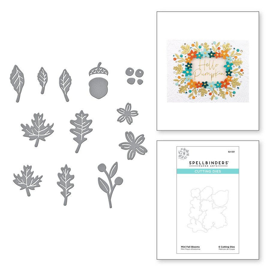 Mini Fall Blooms Etched Dies