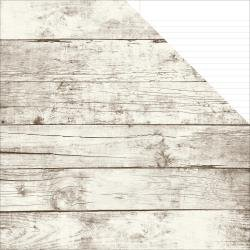 Aspen/White Notebook- Sn@p! Basics Color Vibe Double-Sided Cardstock 12X12