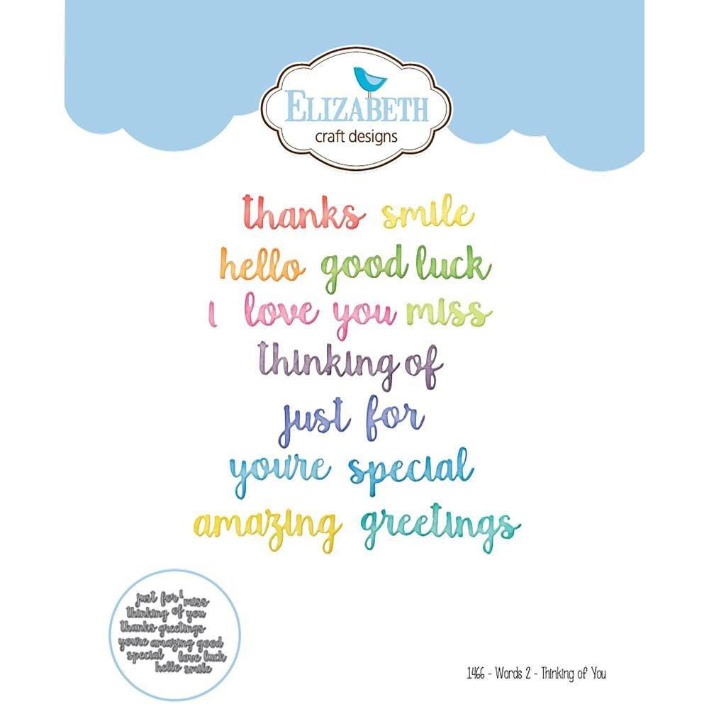 Elizabeth Crafts Die Words 2 Thinking Of You 812755028501