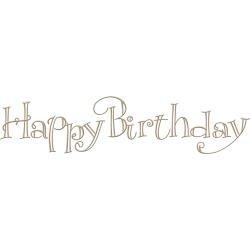 Faux Script Happy Birthday Glimmer Hot Foil Plate by Paul Antonio