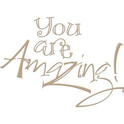 You are Amazing Glimmer Hot Foil Plate by Paul Antonio