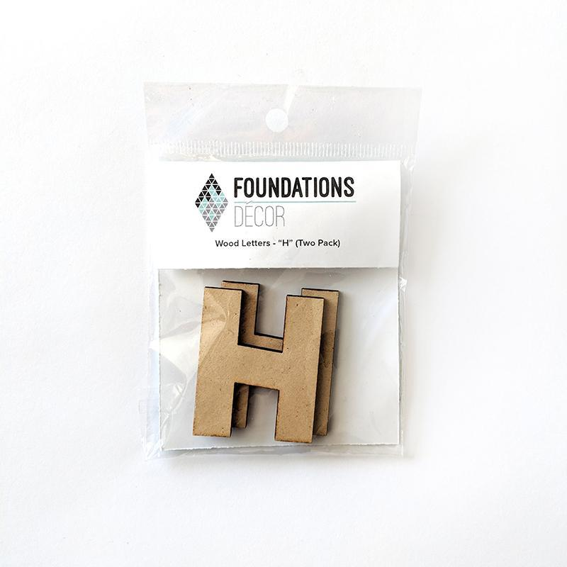 Foundations Decor WOOD LETTERS - 'L'' (TWO PACK)