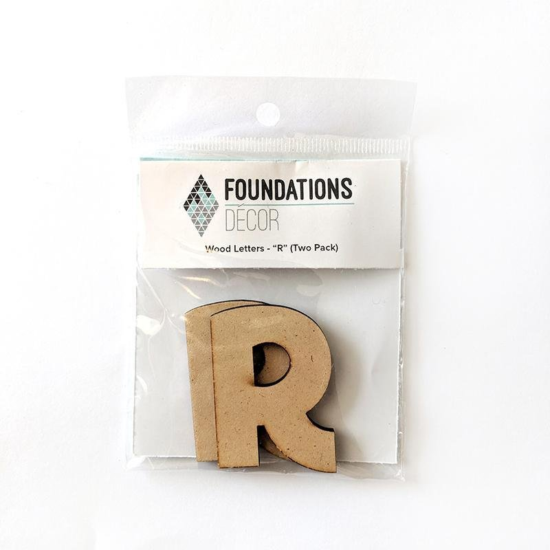 Foundations Decor WOOD LETTERS - 'R' (TWO PACK)