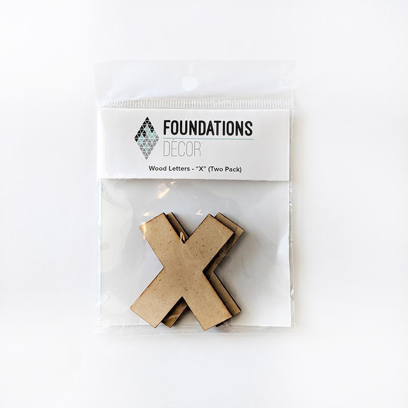 X Foundations Decor WOOD LETTERS - ''X'' (TWO PACK)