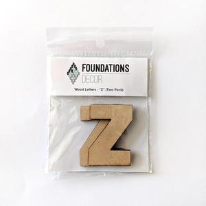Z Foundations Decor WOOD LETTERS - ''Z'' (TWO PACK)