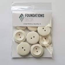 Buttons Large- Off white - Foundations decor
