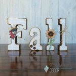 Foundations Decor Fall Wood Letters