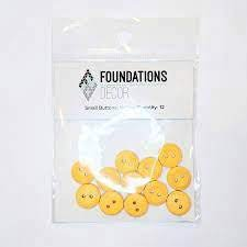Buttons Small- Yellow - Foundations decor