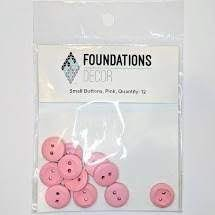 Buttons Small- Pink- Foundations decor