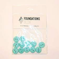 Buttons Small- Teal Foundations decor