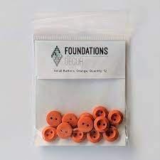 Buttons Small- Orange Foundations decor     -