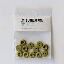 Buttons Small- Green Foundations decor