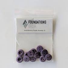 Buttons Small- Purple -Foundations decor
