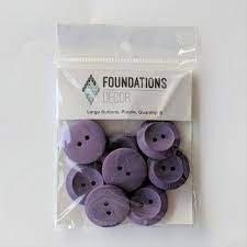 Buttons Large- Purple -Foundations decor