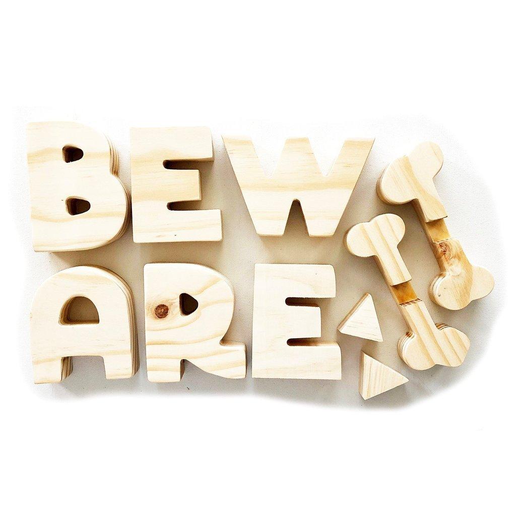 'Beware' Wood Decor - Foundations Decor