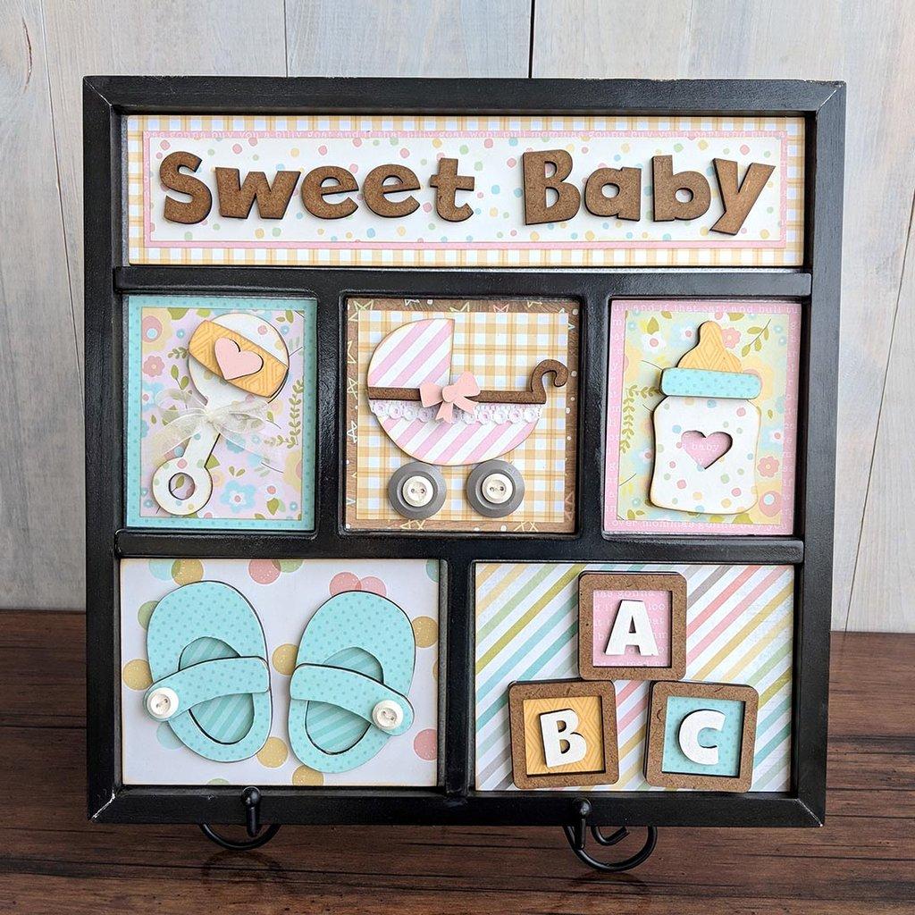 Foundations Decor Shadow Box Kit-Sweet Baby