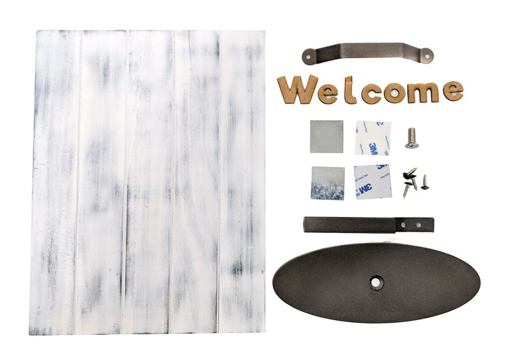 Foundations Decor Slat Welcome Sign-