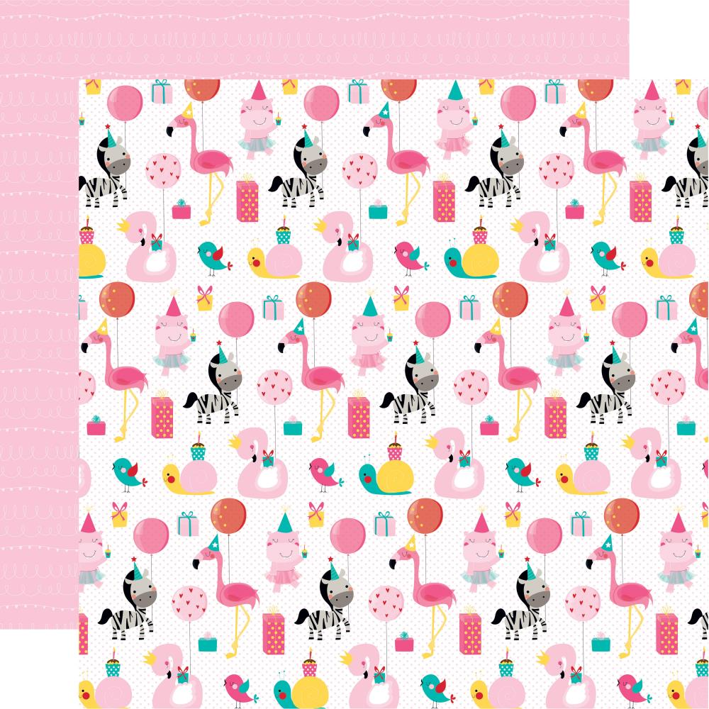 Party Animal- Wish Big Girl Double-Sided Cardstock 12X12