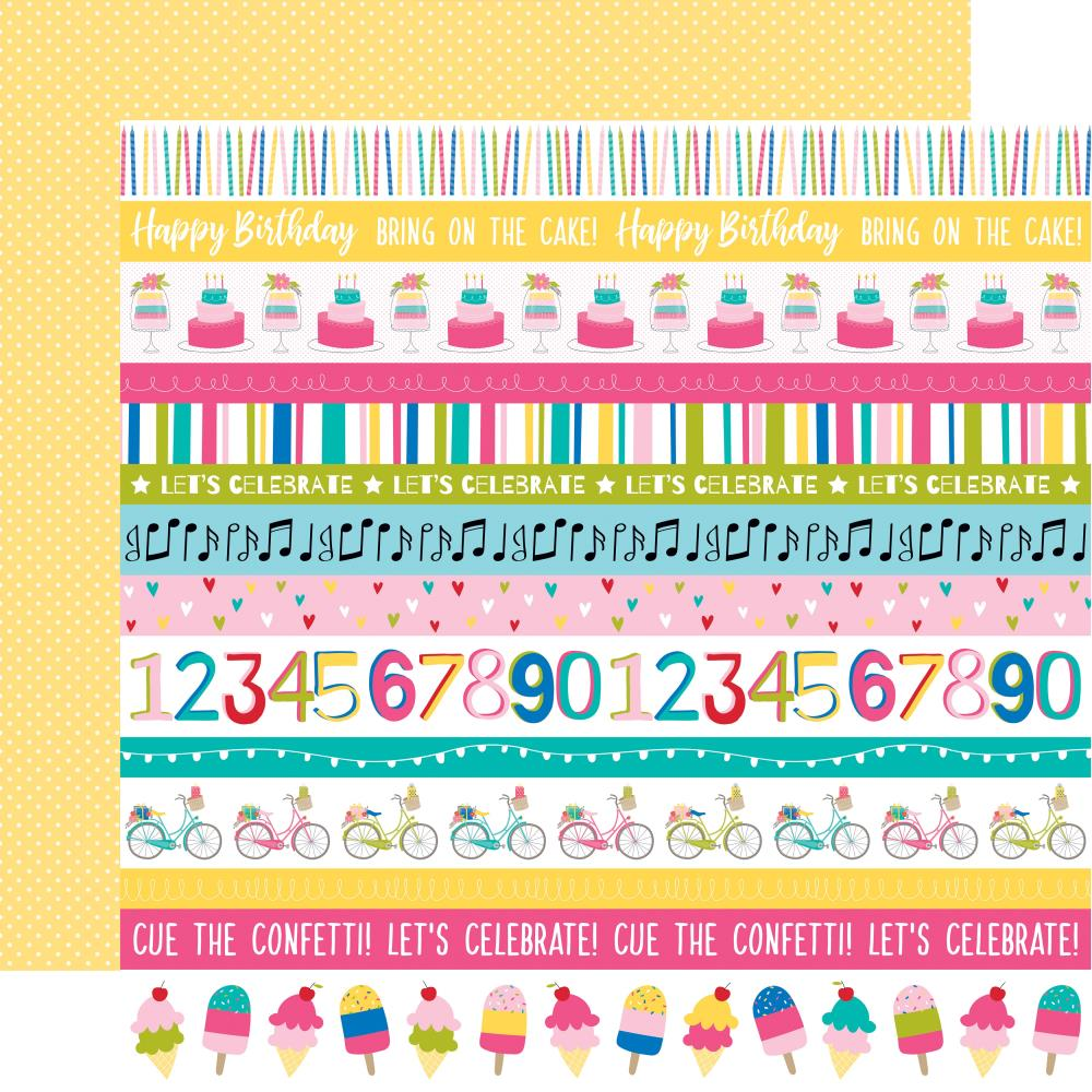 Borders- Wish Big Girl Double-Sided Cardstock 12X12