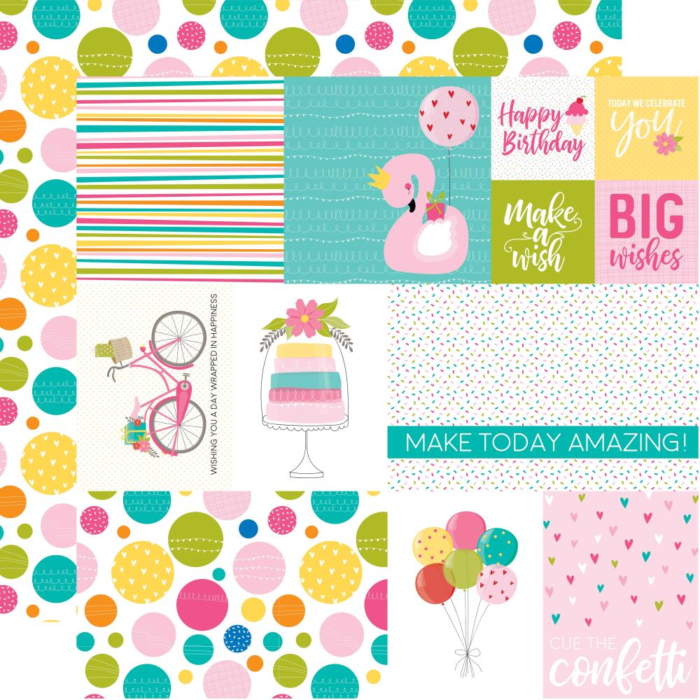 Daily Details- Wish Big Girl Double-Sided Cardstock 12X12