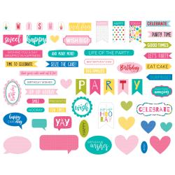 Words- Bella Blvd Wish Big Girl Cardstock Die-Cuts