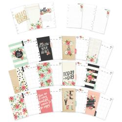 Carpe Diem Bloom Double-Sided Personal Planner Inserts Monthly, Undated