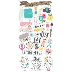 Crafty Girl 6x12 Chipboard-Simple Stories