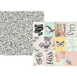 Simple Stories 12X12 Paper- 3X4 Elements
