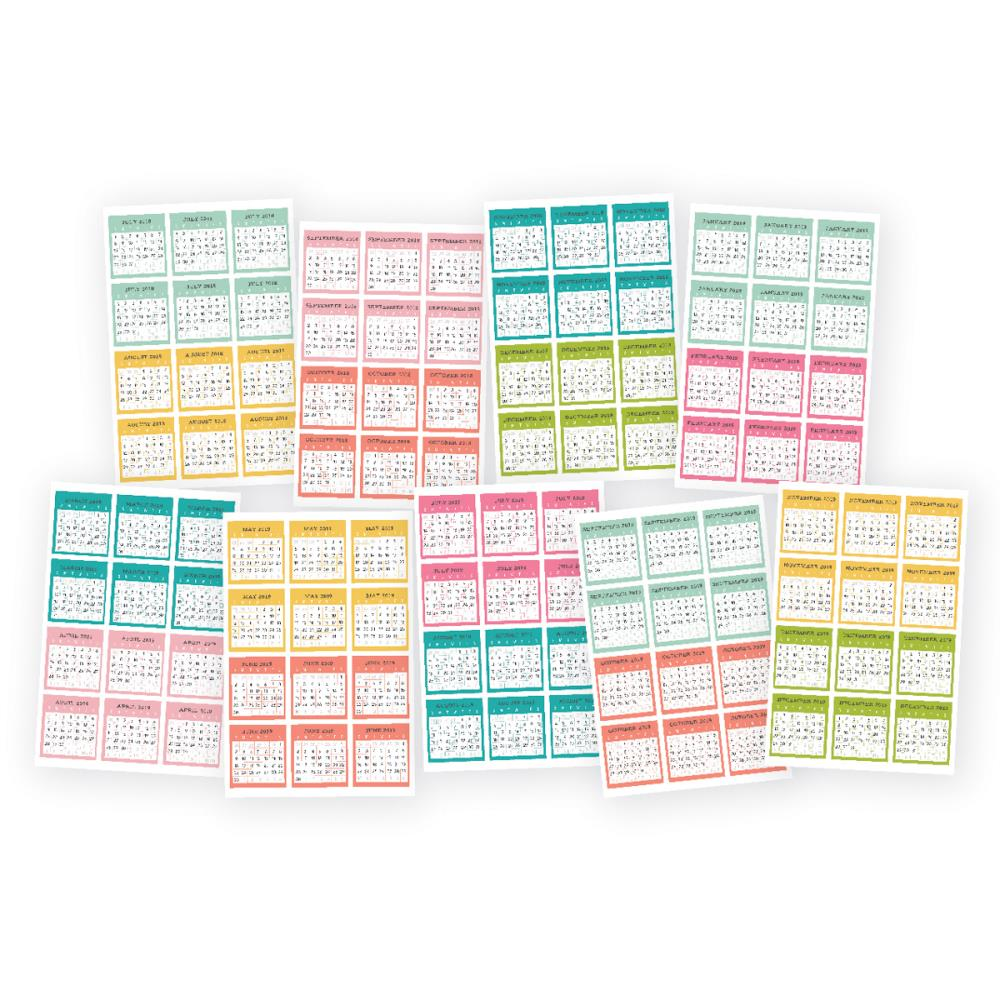 Carpe Diem Planner Mini Stickers- Monthly 2018-19