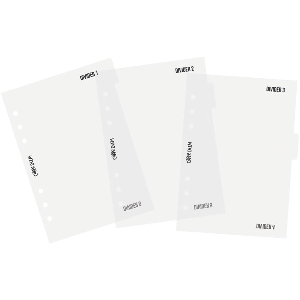 Carpe Diem Basic Divider Templates - A5