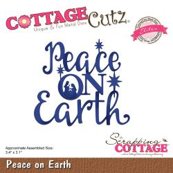 Peace On Earth 3.4X3.1- Cottage Cutz Die
